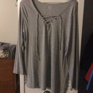 NWT Grey knit long sleeve.
